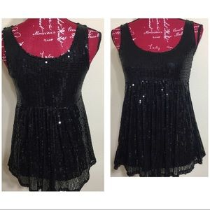 Sequins Top by Arden B,  Black XS
